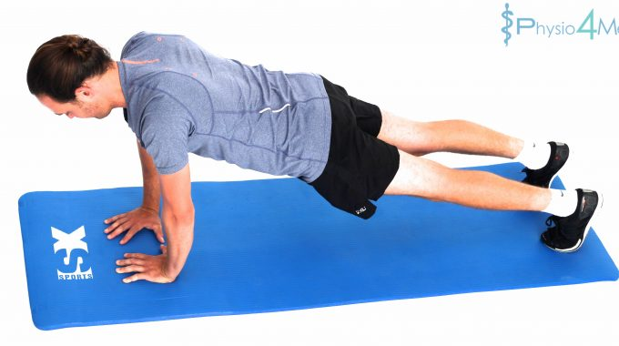 Gluteal Activation Plank Narrow