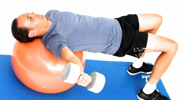 Exercise Ball – Chest Fly Single Arm