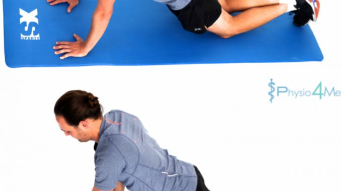 Gluteal Activation Plank Hand Walks – Easy