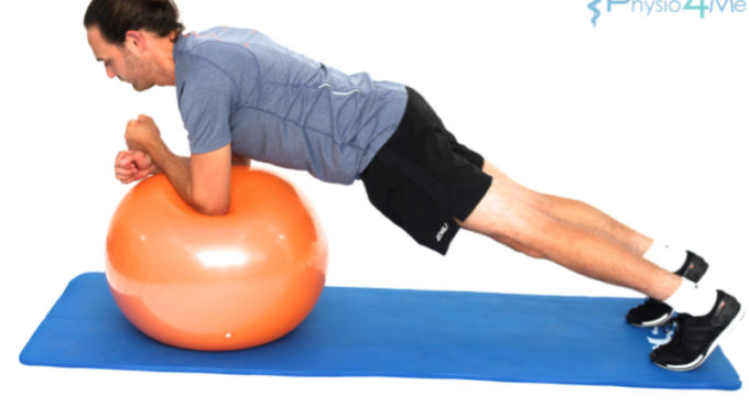 Exercise Ball – Plank