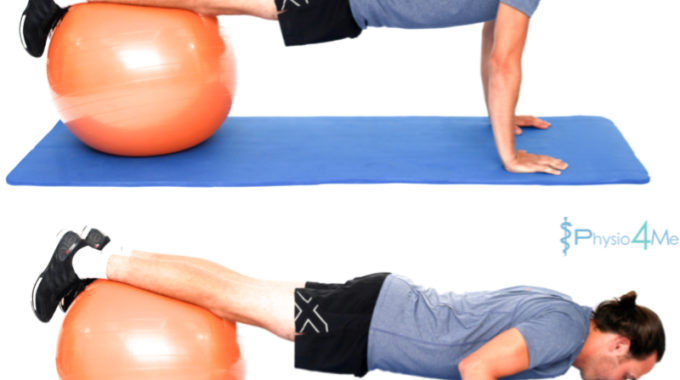 Exercise Ball – Push Up Variation
