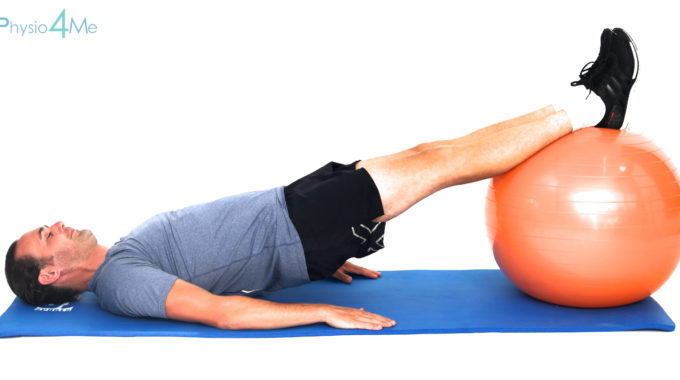 Exercise Ball – Supine Plank
