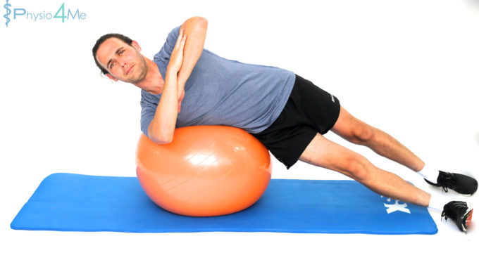 Exercise Ball – Oblique Hold